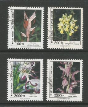 North Cyprus Stamps SG 311-14 1991 Orchids 2nd series - USED (L706)