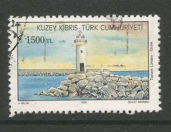 North Cyprus Stamps SG 324 1991  1500 TL - USED (L710)