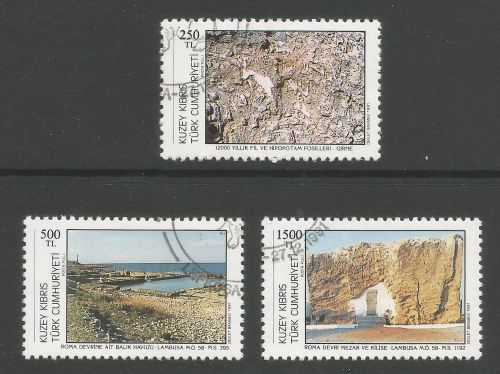 North Cyprus Stamps SG 325-27 1991 Tourism 1st Series - USED (L711)