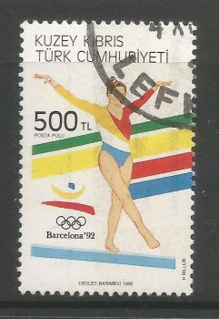 North Cyprus Stamps SG 336 1992 500 TL - USED (L712)