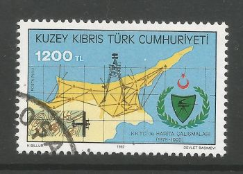 North Cyprus Stamps SG 346 1992 1200 TL -  CTO USED (L713)