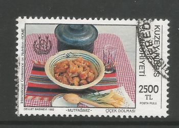 North Cyprus Stamps SG 348 1992 2500 TL - USED (L715)