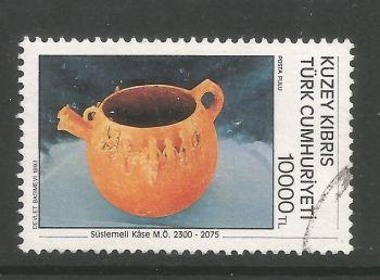 North Cyprus Stamps SG 352 1993 10,000 TL - USED (L716)