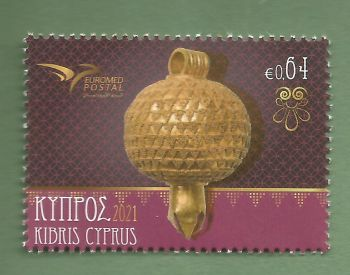 Cyprus Stamps SG 2021 (g) Euromed Handicraft Jewelry in the Mediterranean - MINT