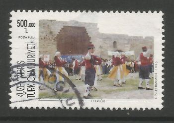 North Cyprus Stamps SG 425 1996 500,000 TL - USED (L723)
