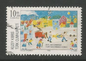North Cyprus Stamps SG 432 1996 10,000 TL - USED (L724)