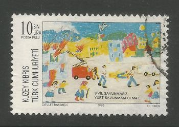North Cyprus Stamps SG 432 1996 10,000 TL - USED (L725)