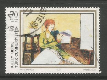 North Cyprus Stamps SG 437 1997 70,000 TL - USED (L727)