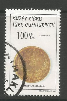 North Cyprus Stamps SG 454 1997 100,000 TL - USED (L732)