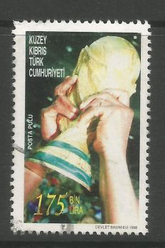 North Cyprus Stamps SG 475 1998 175,000 TL - USED (L736)