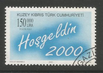 North Cyprus Stamps SG 0504 2000 150,000 TL - USED (L738)