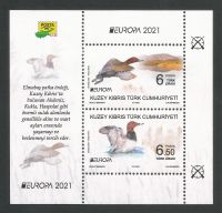 North Cyprus Stamps SG 2021 (a) Europa Endangered National Wildlife Birds Mini Sheet  - MINT