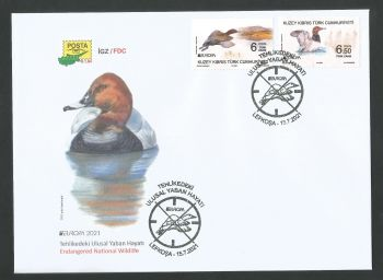 North Cyprus Stamps SG 2021 (a) Europa Endangered National Wildlife Birds Stamps  - Official FDC