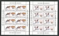 North Cyprus Stamps SG 2021 (a) Europa Endangered National Wildlife Birds Full Sheets  - MINT