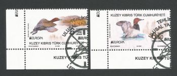 North Cyprus Stamps SG 2021 (a) Europa Endangered National Wildlife Birds - CTO USED (P699)