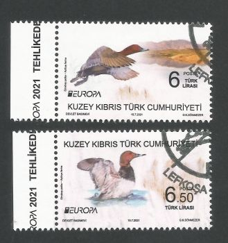 North Cyprus Stamps SG 2021 (a) Europa Endangered National Wildlife Birds - CTO USED (P700)