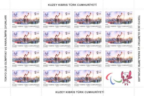 North Cyprus SG 2021 Olympic and Paralympic Games Tokyo 2020 Full Sheet 2L