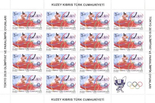 North Cyprus SG 2021 Olympic and Paralympic Games Tokyo 2020 Full Sheet 3L