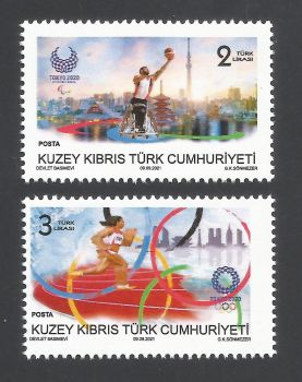 North Cyprus Stamps SG 2021 (b) Olympic and Paralympic Games TOKYO 2020 - MINT