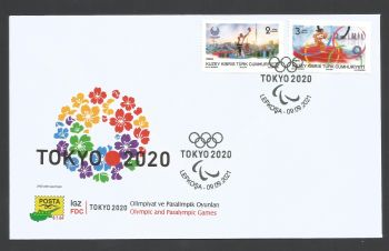 North Cyprus Stamps SG 2021 (b) Olympic and Paralympic Games TOKYO 2020  - Official FDC