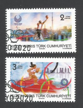 North Cyprus Stamps SG 2021 (b) Olympic and Paralympic Games TOKYO 2020  - CTO USED (L758)