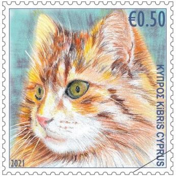 Cyprus Stamps 2021 - Cats 50c sample image