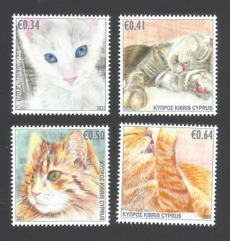 Cyprus Stamps SG 2021 (J) Cats - MINT