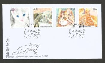 Cyprus Stamps SG 2021 (J) Cats - Official FDC