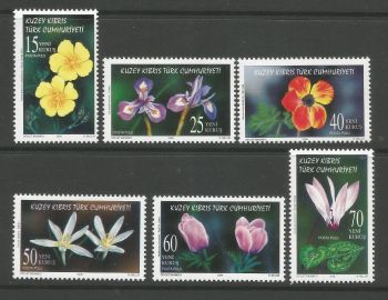North Cyprus Stamps SG 0623-28 2006 Flowers - MINT