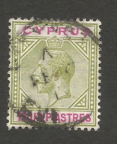 Cyprus Stamps SG 079 1912 Four Piastres - USED (L816))