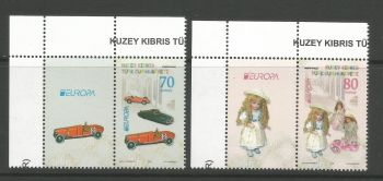 North Cyprus Stamps SG 0796-97 2015 Europa Old Toys - Vignette MINT (L805)