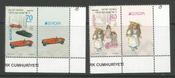 North Cyprus Stamps SG 0796-97 2015 Europa Old Toys - Vignette MINT (L806)