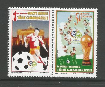 North Cyprus Stamps SG 0636-37 2006 World Cup Football Germany - MINT
