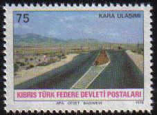 North Cyprus Stamps SG 065 1978 75 Krs Motorway Junction - MINT