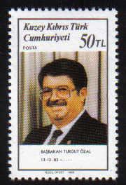 North Cyprus Stamps SG 235 1988 50TL Turgut Ozal - MINT