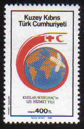 North Cyprus Stamps SG 243 1988 400TL Red Cross Globe - MINT