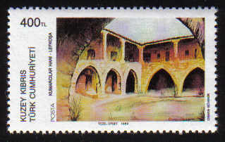 North Cyprus Stamps SG 249 1989 400TL Gamblers Inn Lefkosa - MINT