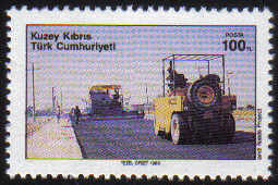 North Cyprus Stamps SG 258 1989 100TL Road Construction - MINT