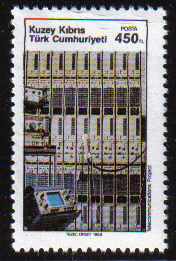 North Cyprus Stamps SG 261 1989 450TL Modern Telephone Exchange - MINT