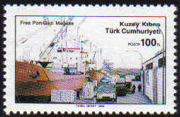 North Cyprus Stamps SG 264 1989 100TL Poly Pioneer ship - MINT