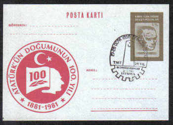 North Cyprus Stamps Pre-paid Postcard 5TL - USED (d116)