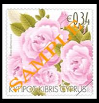 Aromatic Flowers - Roses (Cyprus stamp March 2011 issue)