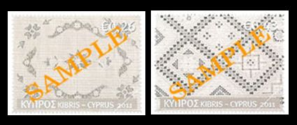 Cyprus Embroidery - 2 stamp issues March 2011