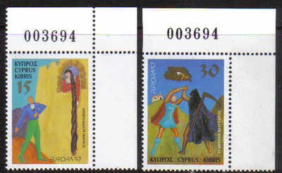 Cyprus Stamps SG 924-25 1997 Europa Tales and Legends - MINT (d909)