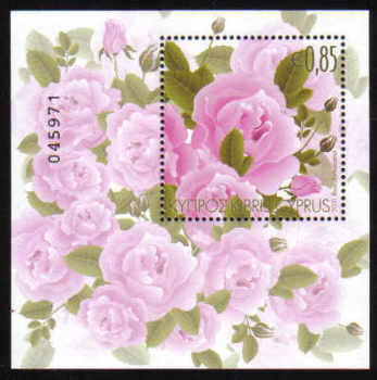 Cyprus Stamps SG 1244 MS 2011 Aromatic Flowers Roses Mini Sheet - MINT