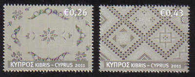 Cyprus Stamps SG 1241-42 2011 Cyprus Embroidery Lefkara Lace - MINT