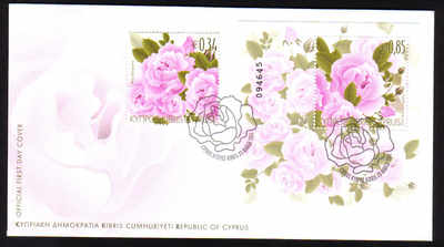 Cyprus Stamps SG 1243 2011 Aromatic Flowers Roses - Official FDC