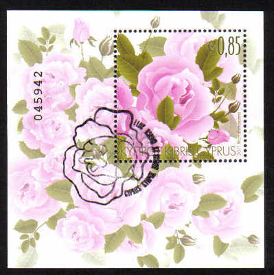 Cyprus Stamps SG 1244 MS 2011 Aromatic Flowers Roses Mini Sheet  - CTO USED