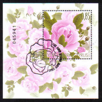 Cyprus Stamps SG 1244 MS 2011 Aromatic Flowers Roses Mini Sheet - CTO USED (d937)