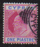 Cyprus Stamps SG 052 1903 One Piastre - USED (d955)